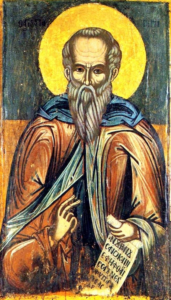 Sf Patapie din Thebaida Grecia, sec. al XVII-lea
